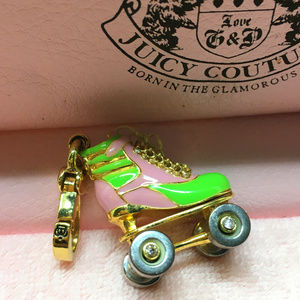 Juice Couture Roller Skate Bracelet Charm Pink 07